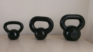 3 little Kettlebells all in a row